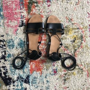 Old Navy Black Sandals Sz 8